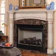 awesome traditional fireplace design with white crowned molding