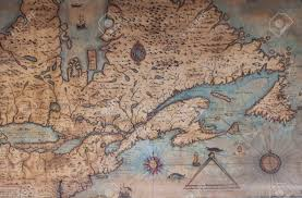 Map Of Canada An Old Hand Drawn Map Of Canada Stock Photo Picture And Royalty