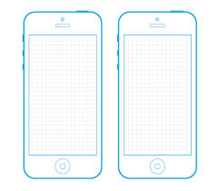 iphone 5 wireframe sketch template miketheindian