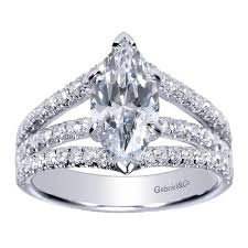 marquise diamond engagement ring 14k white gold marquise diamond split shank engagement ring