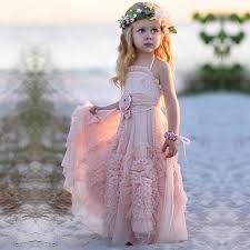 flower girl dress spaghetti straps flower girl dresses with flowers