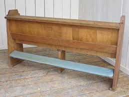 reclaimed solid antique oak church pew with book holder