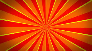 Earthy Orange Multicolor Burst Vector Background Cartoon Sun Light Background