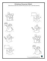 christmas matching worksheets for preschool u2013 christmas fun zone