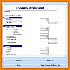 Pro Forma Financial Statements Excel Template Financial Statement Templates Excel Thebridgesummit Co
