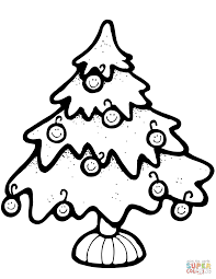 christmas tree coloring page free printable coloring pages