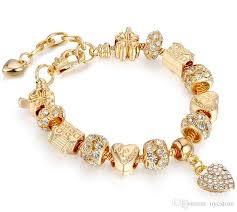 pandora beaded bracelet images Kc real gold plated pandora style charm bracelets european jpg