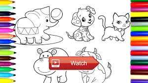 coloring pages cute animals drawing pages to color for kids