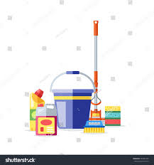 house cleaning tools vector stock vector 544027330 shutterstock