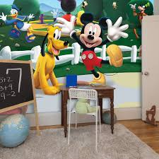 wall stickers uk wall art stickers kitchen wall stickers wm42056 disney mickey mouse clubhouse wall mural 304x243cm