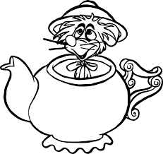 alice in the wonderland mouse coloring pages wecoloringpage