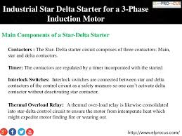 industrial star delta starter for a 3 phase induction motor