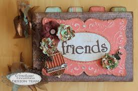 handmade photo albums scrapbook flair pam bray designs friends mini album with couture