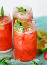 Table For Two by Strawberry Rosé Mint Limeade Refreshing Summer Drink For Parties