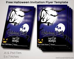 download halloween invitation flyer templete ai and psd file for free