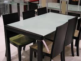 table cuisine verre trempé table en verre cuisine repas extensible noir 120 newsindo co