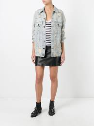 alexander wang distressed denim jacket women clothing alexander