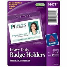 photo insert cards buy avery badge holder horizontal holds insert cards up to 3 x 4