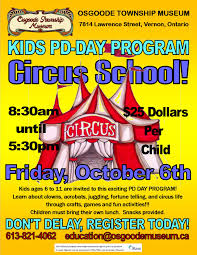 pd day program for kids u2013 circus george darouze