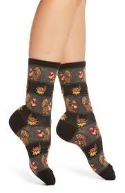 thanksgiving socks hot sox thanksgiving crew socks 3 for 15 nordstrom