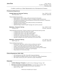 Resume Format For Experienced Medical Representative Example Resume Of Medical Representative Augustais