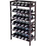 silvi 30 bottle wine rack antique walnut walmart com