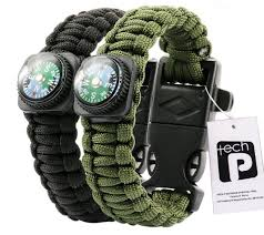 survival bracelet whistle images Tech p survival gear paracord bracelet compass fire jpg