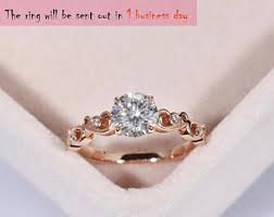 Rose Gold Wedding Rings For Women by Rose Gold Engagement Ring Etsy
