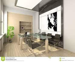 Modern Office Interior Design Of Modern Office Hi Tech Interior Stock Photo Image