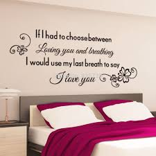 romantic bedroom wall decals newhomesandrews com romantic english proverbs wall stickers foe bedroom
