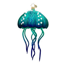 christopher radko ornaments radko moon jelly blue button 3013199
