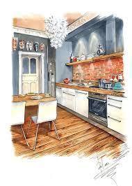 interior design sketch kitchen design marker rendering interior sketches design kitchen