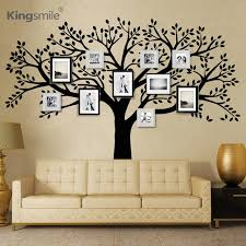 Wood Branches Home Decor Huge Family Photos Tree Vinyl Wall Stickers Black Tree Branches