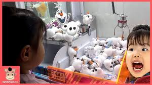 kids toys play claw machine frozen bowling car race game room