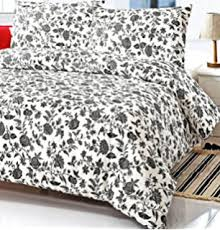 White Queen Size Duvet Cover Amazon Com French Country White Gray Floral Full Queen Size Duvet
