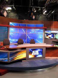 tv studio desk inside the studios of wpvi tv nick larosa
