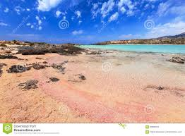 elafonissi beach with pink sand on crete stock photo image 90993923