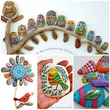 Garden Stone Craft - wonderful ideas for painting stones and pebbles