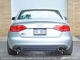 audi s4 exhaust awe tuning audi b8 s4 touring edition exhaust and downpipe systems