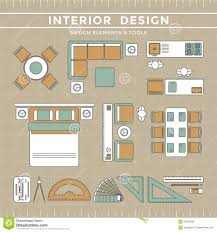 interior design layout u0026 tools stock vector image 53472952