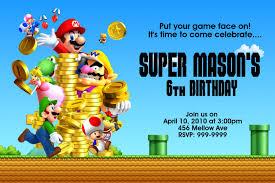 mario birthday party free printable mario birthday party invitations template