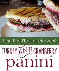 chipotle cranberry sauce and turkey and cranberry panini