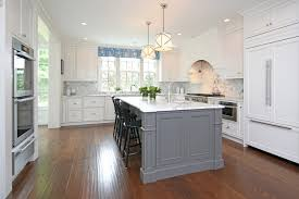 grey kitchen island federal colonial restoration