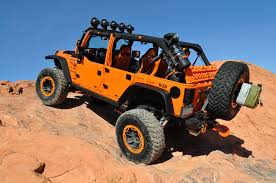 orange jeep rubicon doetsch off road
