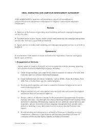 email marketing and campaign agreement if you are going to