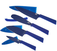colored kitchen knives kuhn rikon everyday 4 piece knife set page 1 u2014 qvc com