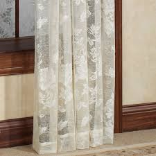 French Lace Kitchen Curtains Abbey Rose Floral Lace Window Treatment