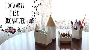 harry potter desk decor hogwarts castle desk organizer diy youtube