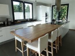 ilot de cuisine avec table beau ilot central cuisine table kitchens attachment id10016 idee top