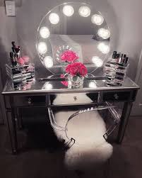 makeup dresser with lights lighted makeup mirror vanity table pertaining to with design 17